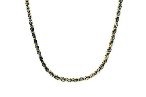 Blue Sapphire & Diamonds Necklace AD No. 0652