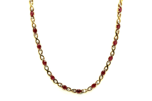 Ruby & Diamonds Necklace AD No.0632