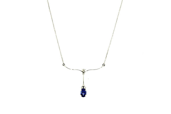 Tanzanite & Diamond Delicate Necklace AD No.0640