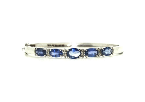 Ceylon Sapphire And Marquee Diamond Bangle /Item code:BNG3