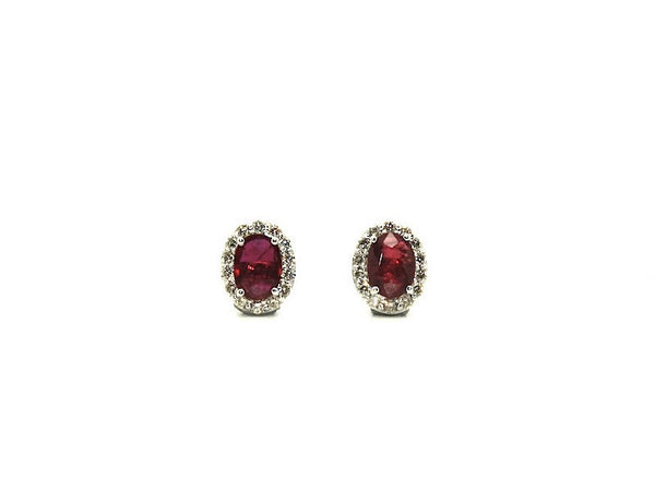 Halo Ruby & Diamond Earring Ad No. 0839