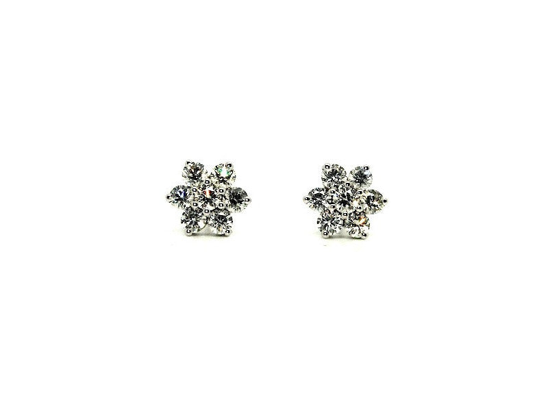 Sparkle Diamond Cluster Earrings Ad No. 0138