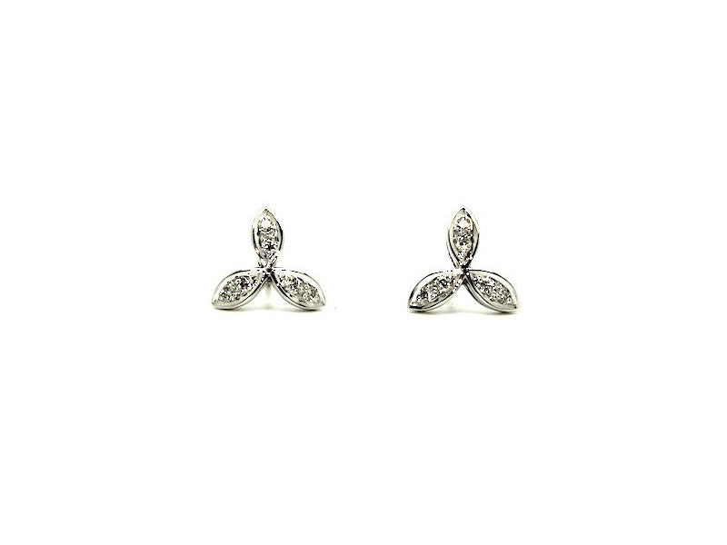 Leaf Diamonds Earrings Ad No.0127