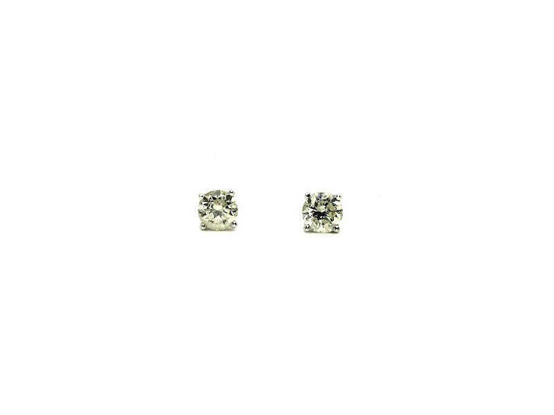 Round Diamond 4 Prong Studs W/G-1ct+