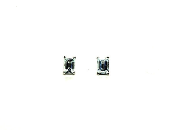 Aquamarine Stud Emd Cut Ad No.0969 (6/4mm )