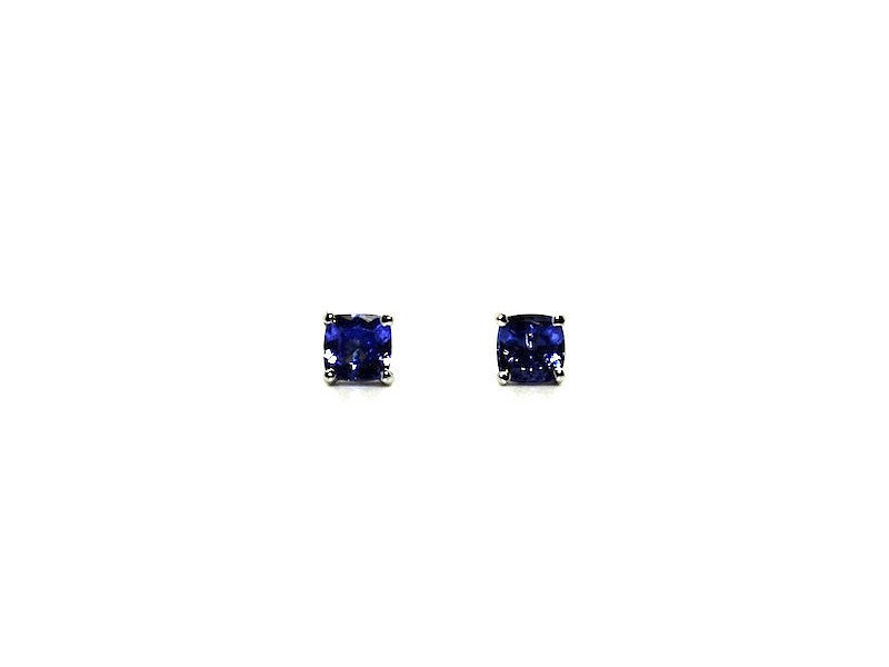 Tanzanite Stud Cushion Cut Ad No.1059 (5mm )