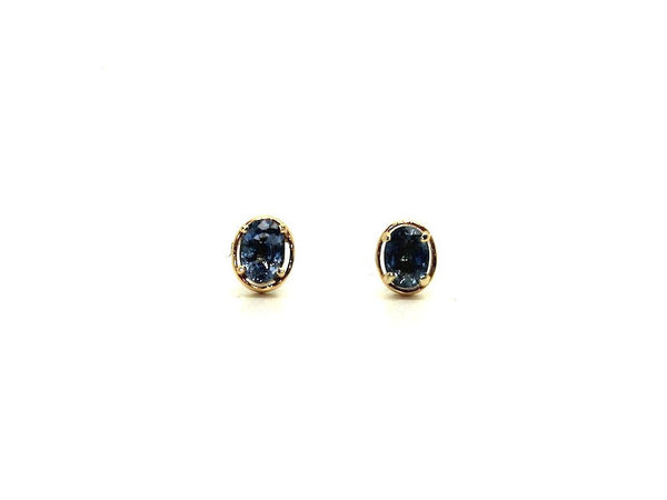 Blue Sapphire Wire Stud Oval Cut Ad No.036 (5/7mm )