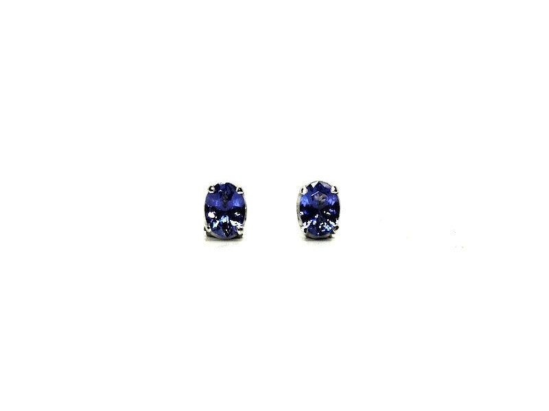Tanzanite Stud Oval Cut Ad No.1060 (5/7mm )