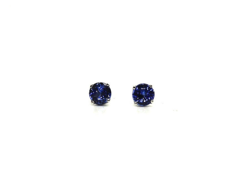 Tanzanite Stud Round Cut Ad No.1061 (6mm )
