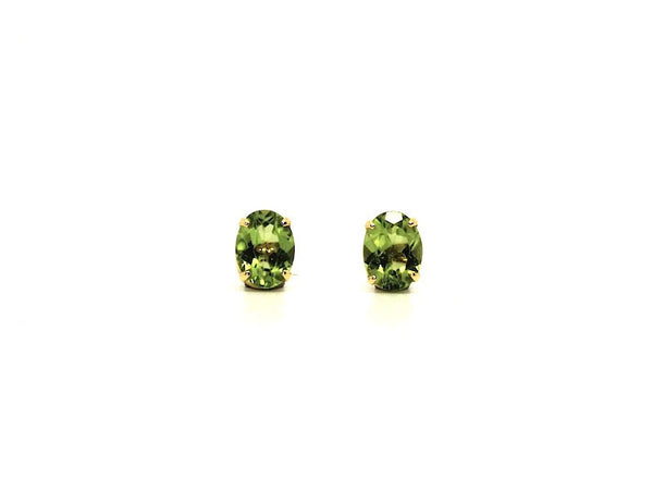 Peridot Stud Oval Cut Ad No.1097 (6/8mm )