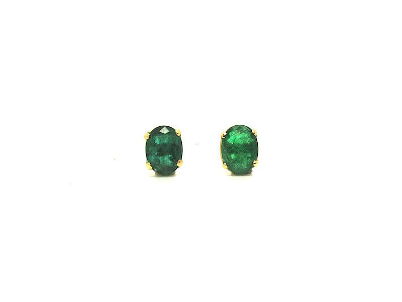 Emerald Stud Oval Cut Ad No.0734 (6/8mm )