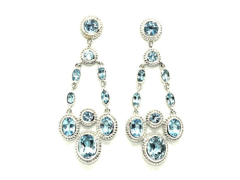 Blue Topaz Evening Earring