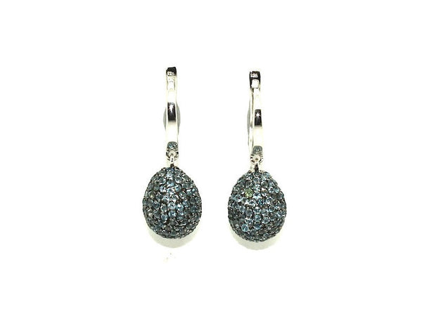 Blue Topaz Studded Drop Earrings
