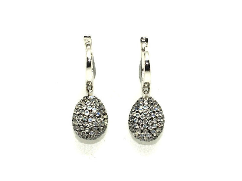 Moonstone Studded Drop Earrings