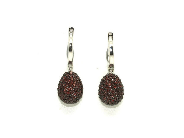 Garnet Studded Drop Earrings