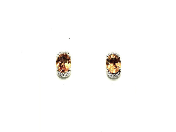 Citrine And Cz Stud
