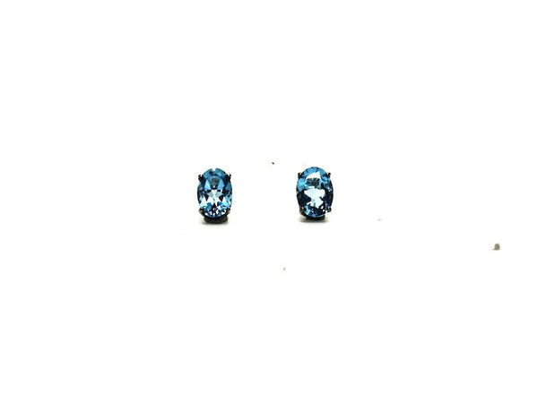 Blue Topaz Stud Oval Cut (5/7mm)