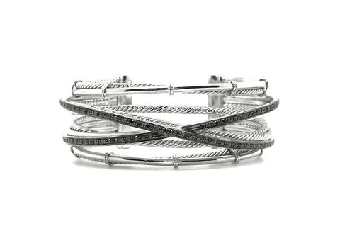 Black Diamond Intertwined Bangle