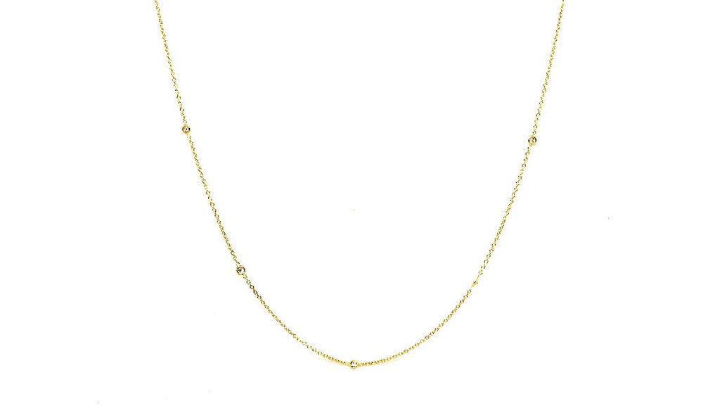 Diamond Bezel Necklace Ad No.1149
