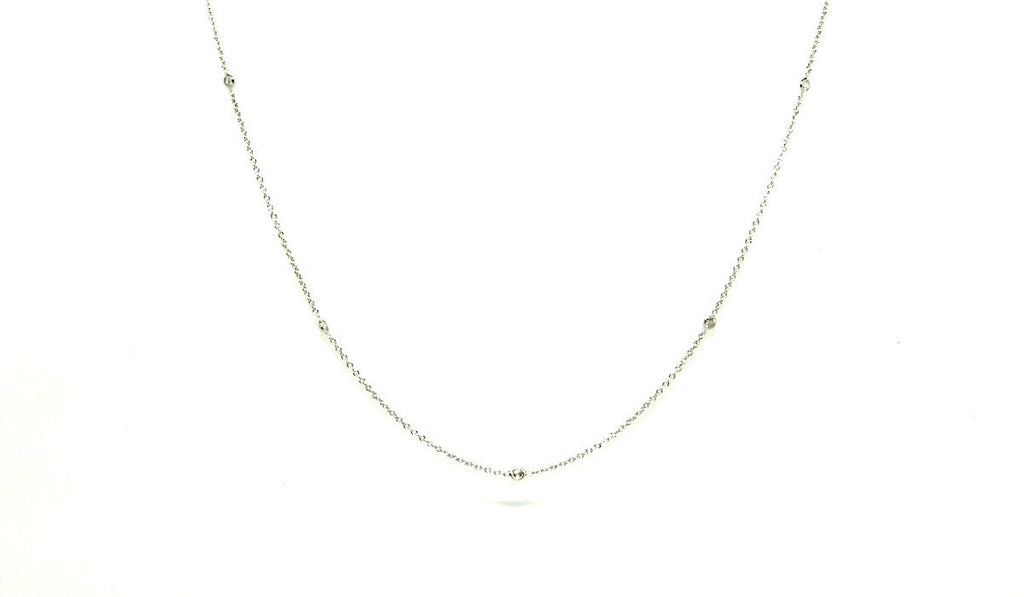 Diamond Bezel Necklace In White Gold