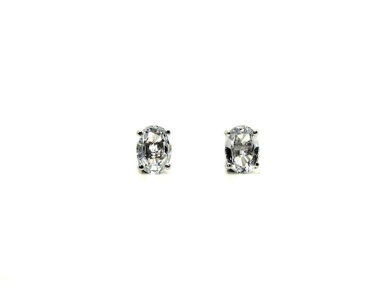 White Sapphire Stud Oval Cut Ad No.1153 (5/7mm )