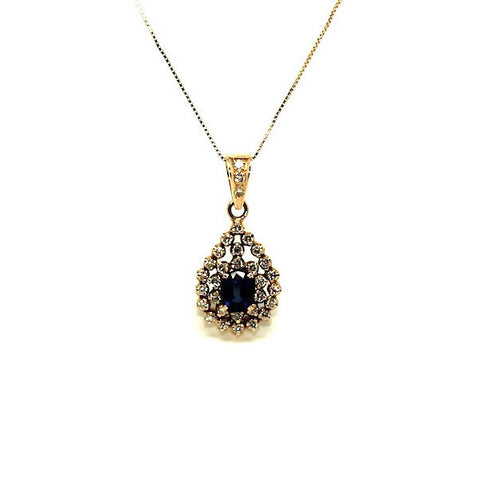 Blue Sapphire And Diamond Double Clustered Ad No.0597