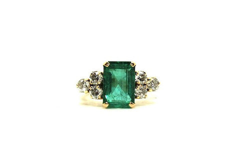 Emerald And 6 Diamond Ring Ad No. 0425