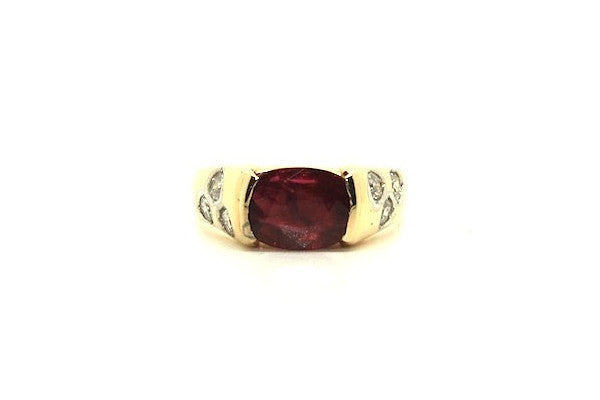 Ruby & Diamond Bubble Ring Ad No.0297