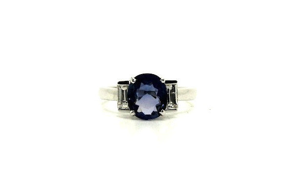 Blue Sapphire And Diamond Ring Ad No. 0829
