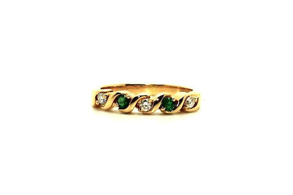 Emerald & Diamond S Style Ring Ad No.0319