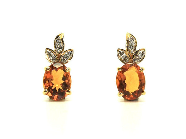 Citrine And Diamond Garland Earring Ad No.0185