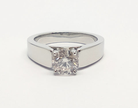Classic Four Prong Solitaire Engagement Ring in Platinum RNG- 167