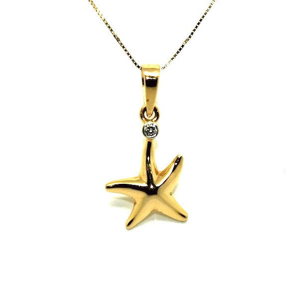 Star Fish Diamond Pendant Ad No.0518