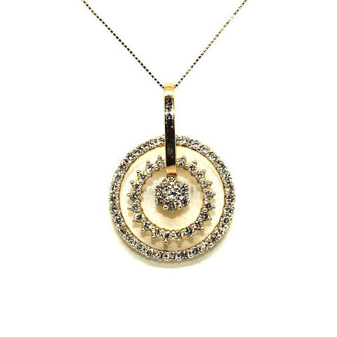 Diamond Double Circle Pendant Ad No.0569