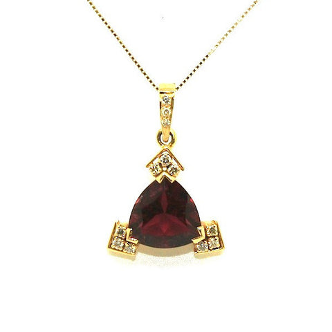 Trillian Cut Rubelite And Diamond Pendant Ad No.0503