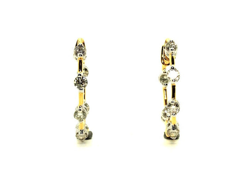 Diamond Hoop Earring In And Out Ad No.1105