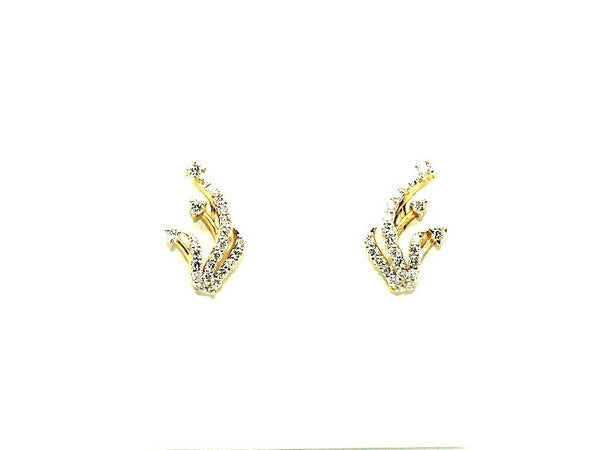 Diamond Asymmetrical Earring Ad No.0162