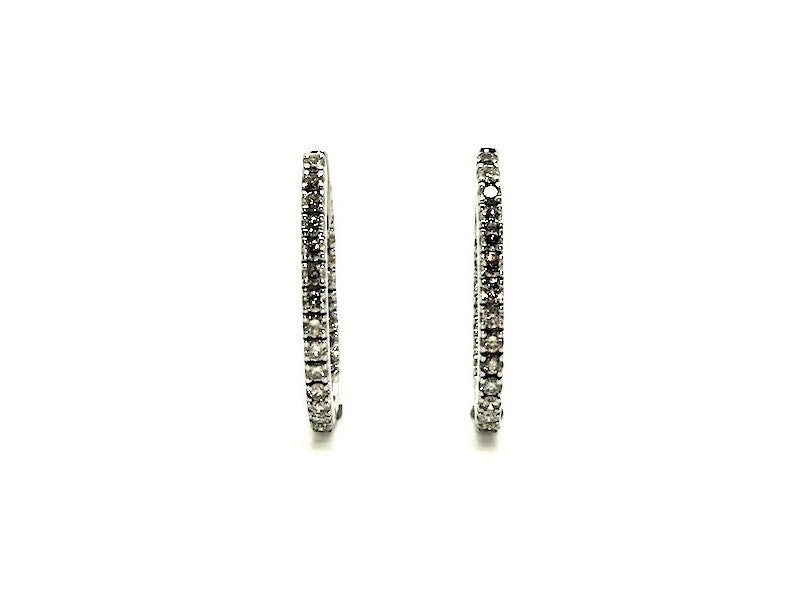 In & Out Diamond Hoop Earring (m) 0.79ct.tw.
