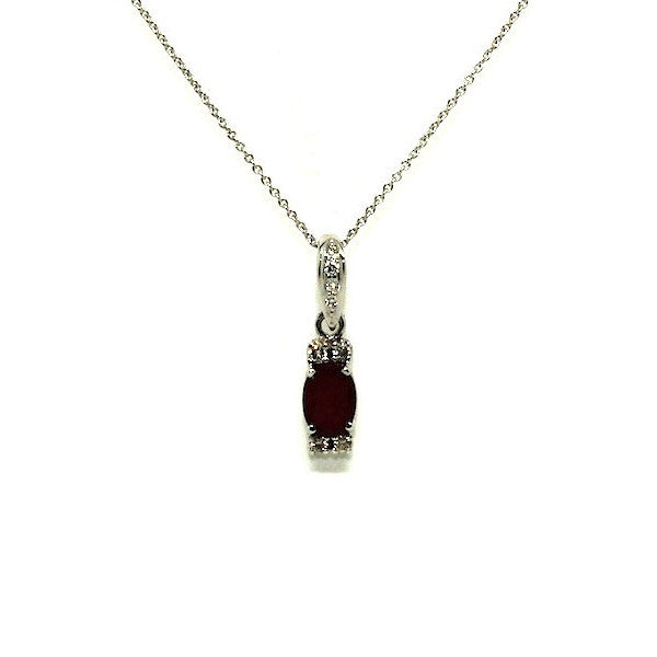 Ruby & Double Diamond Station Pendant AD No. 1158