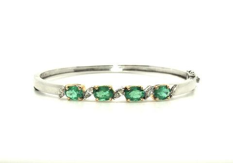 Emerald And Marque Diamond Bangle Ad No.1165
