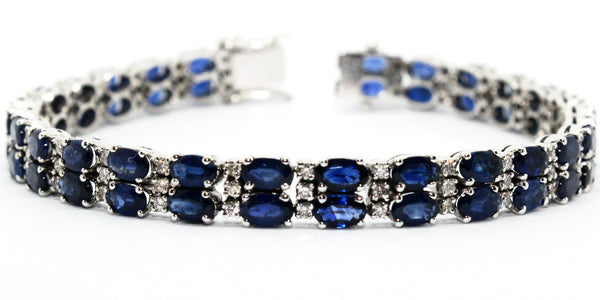 Double Row Sapphire & Diamond Bracelet Ad No. 1024
