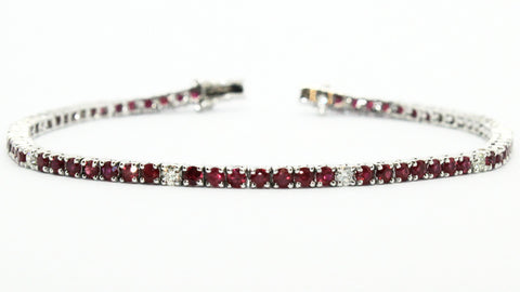 Ruby And Diamond Space Bracelet Ad No.0653