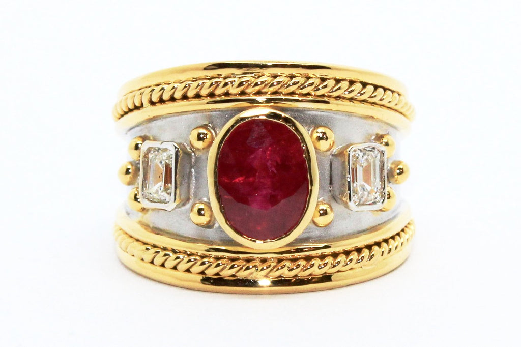 RUBY AND DIAMOND NWA RING AD NO.1611