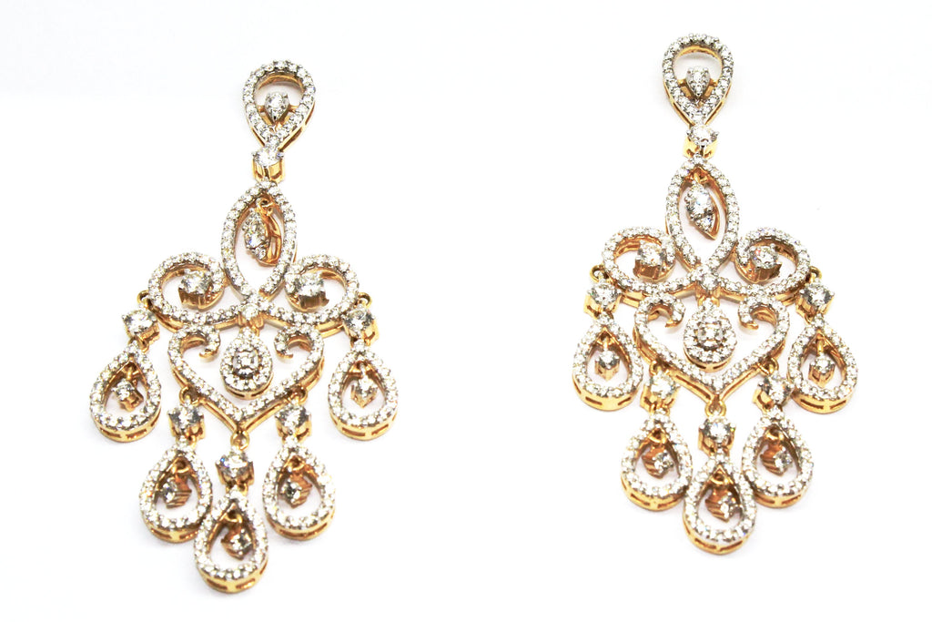 PEAR-SHAPED DIAMOND DROP EARRINGS AD NO.1551