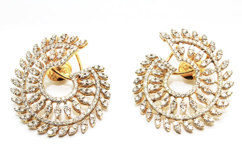 DIAMOND SWIRL EARRINGS AD NO.1554