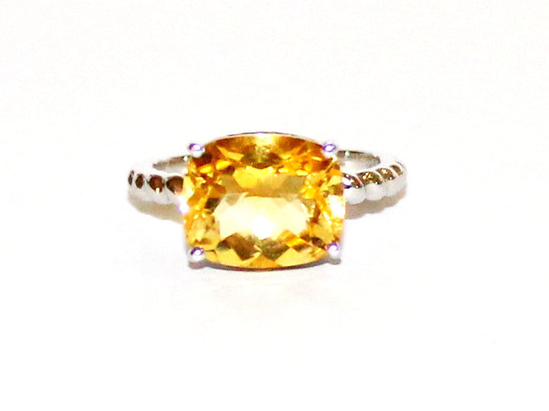 East & West Citrine Ring