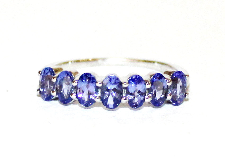 Tanzanite Silver Single Band Ring