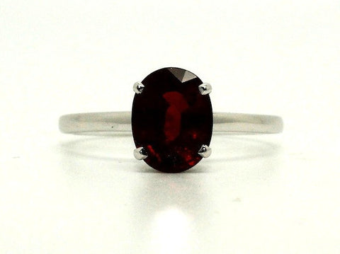Spessartite Garnet 4 Prong Ring
