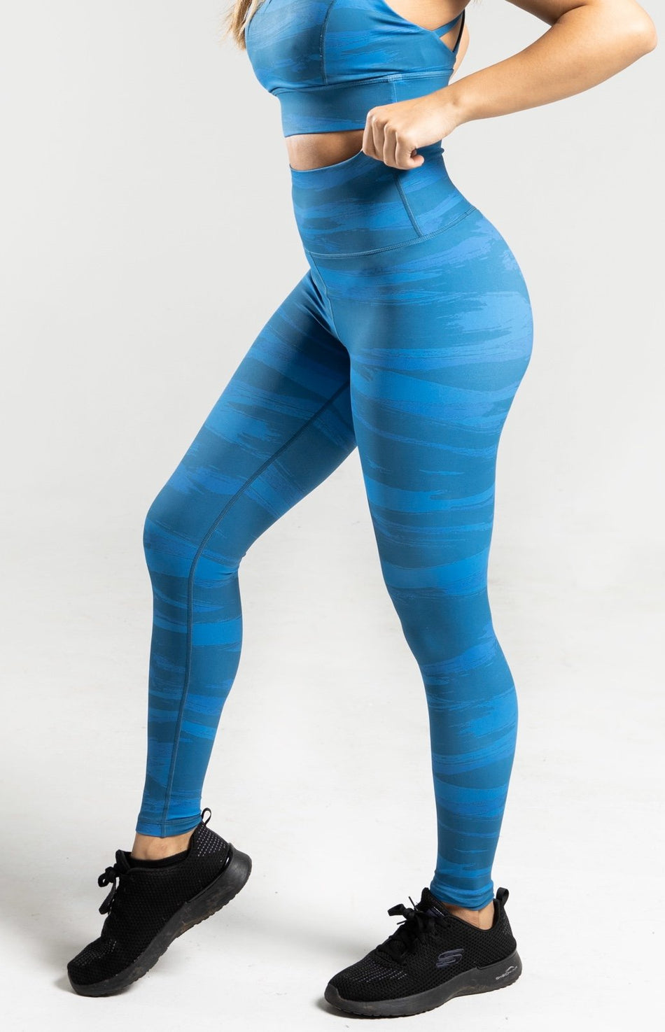 Brush Leggings - Blue - WearWolf Clothing Ltd