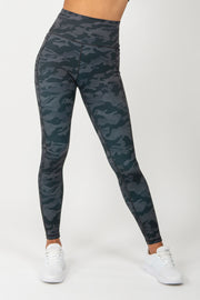 Camo Leggings - Black - WearWolf Clothing UK